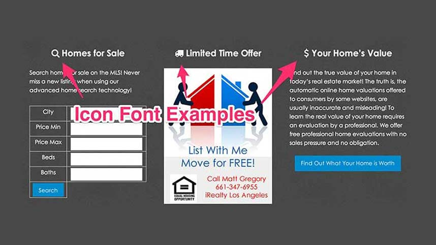 Font Awesome Icon Font Examples