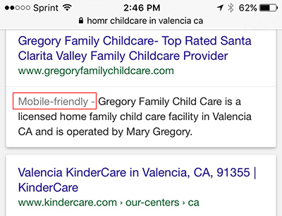 Example of Designation in Search Results